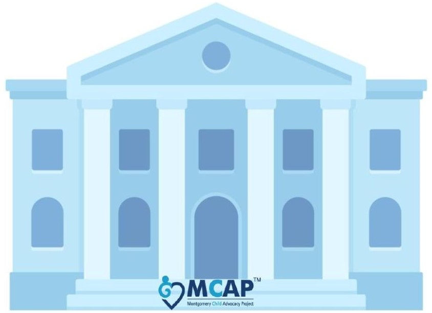 MCAP Wear Blue on the Steps!
